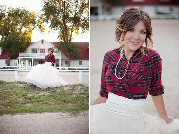 Plaid Winter Wedding Dresses